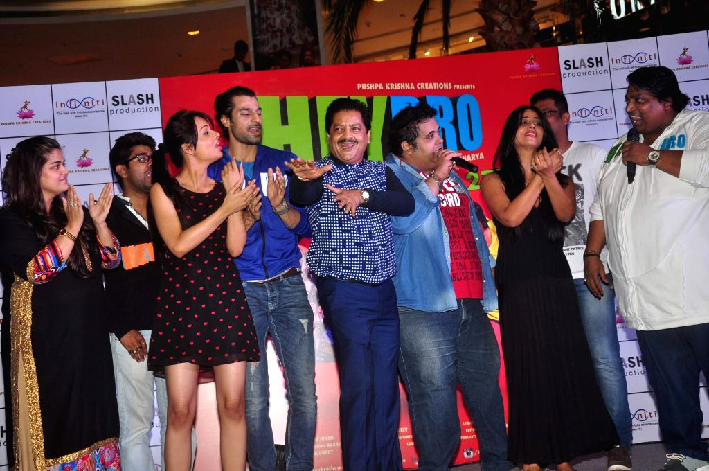 The star cast of film Hey Bro during the promotion of film Hey Bro in Mumbai on Feb 21, 2015.