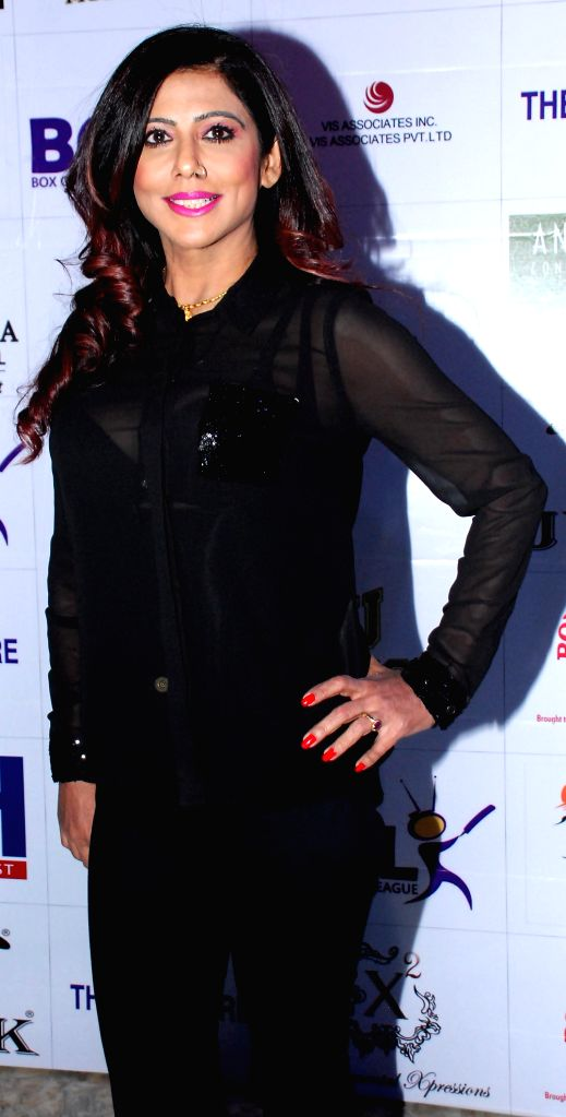 Tinaa during the launch of Dress and anthem of BCL team Kolkatta Babu Moshai at Peninsula Grand in Mumbai, on November 20, 2014.