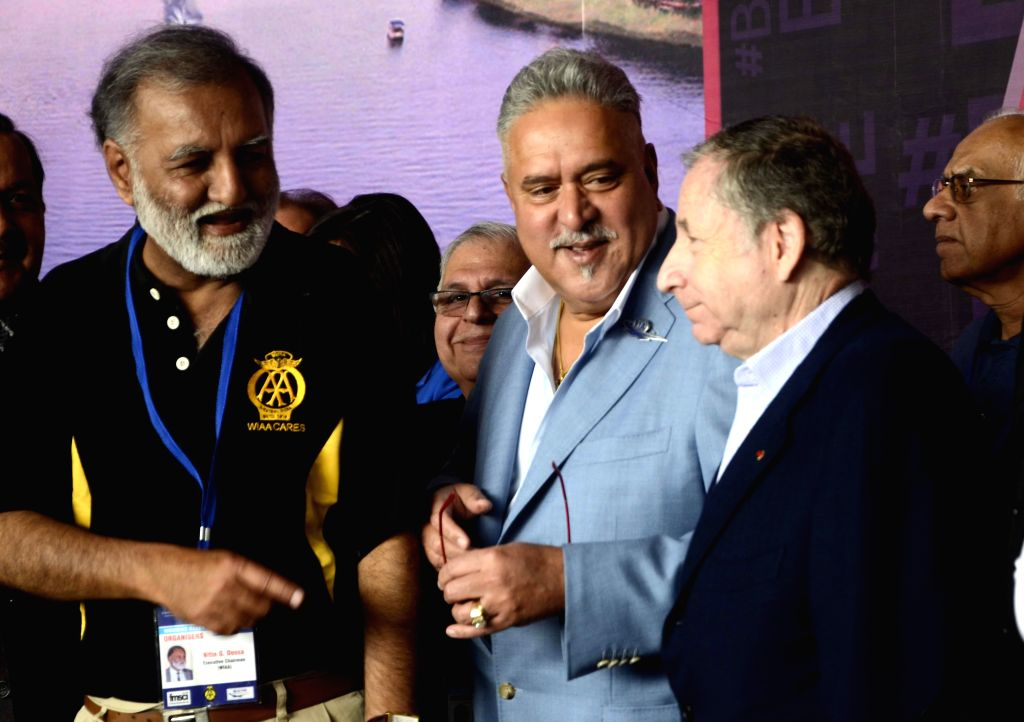 United Breweries (UB) group chairman Vijay Mallya during a programme organised on International Women's Day in Mumbai, on March 8, 2015. - Vijay Mallya