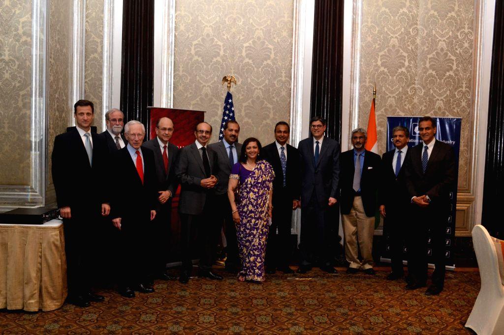 US Treasury Secretary Jacob J. Lew meets top business leaders including Anil Ambani, Dr. Swati Piramal, Adi Godrej and others, ahead of the US-India Economic and Financial Partnership ... - Ambani