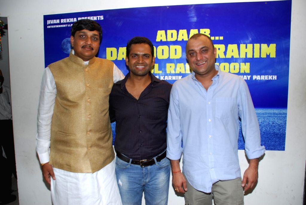 Vijay Parekh, Shaarib Hashmi and Director Samir Karnik during announced a new project, a situational comedy called `Adaab Dawood Ibrahim Bol Raha Hoon` in Mumbai on 13th Jan 2015