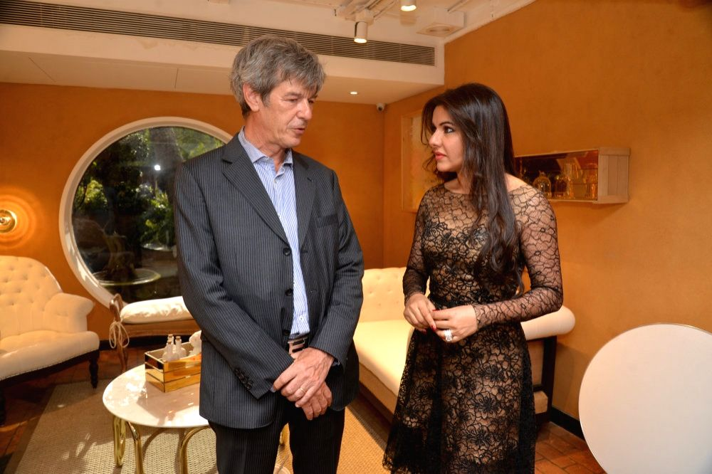 Yves Perrin and Kaykasshan Patel during the launch of Gauri`s private workspace `Gauri Khan` at Bandra in Mumbai on, April 29, 2015. - Kaykasshan Patel