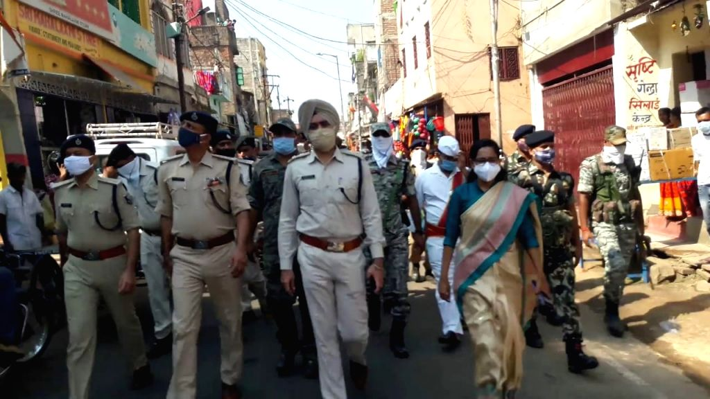 Munger situation normal, shops open, police conducts flag march