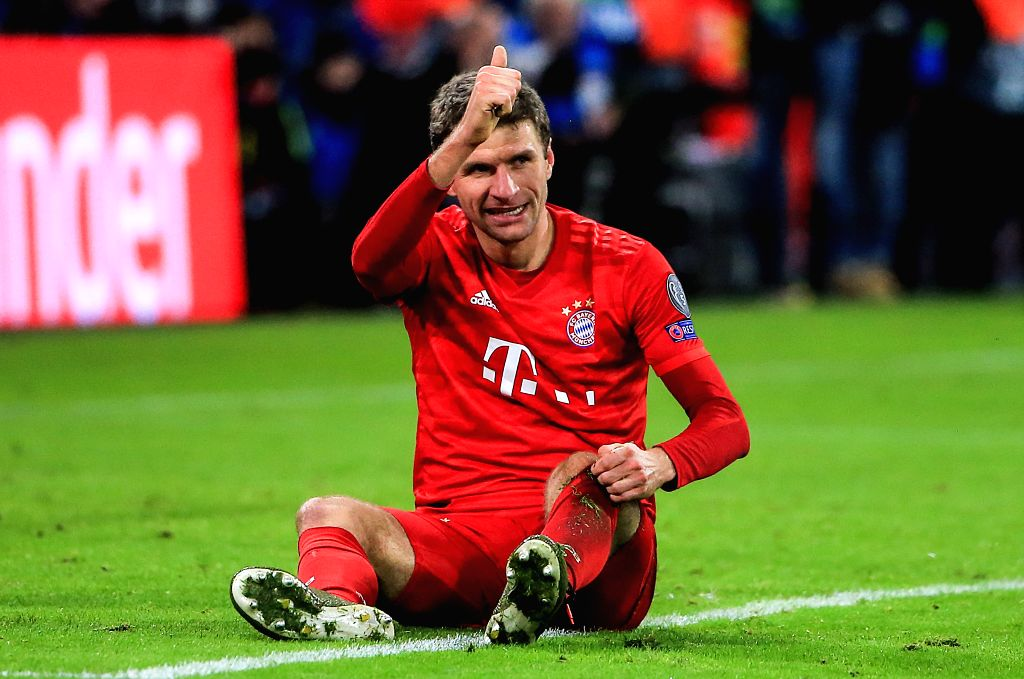 MUNICH, Dec. 12, 2019 - Thomas Mueller of Bayern Munich reacts during a UEFA Champions League Group B match between FC Bayern Munich of Germany and Tottenham Hotspur FC of England in Munich, Germany, ...