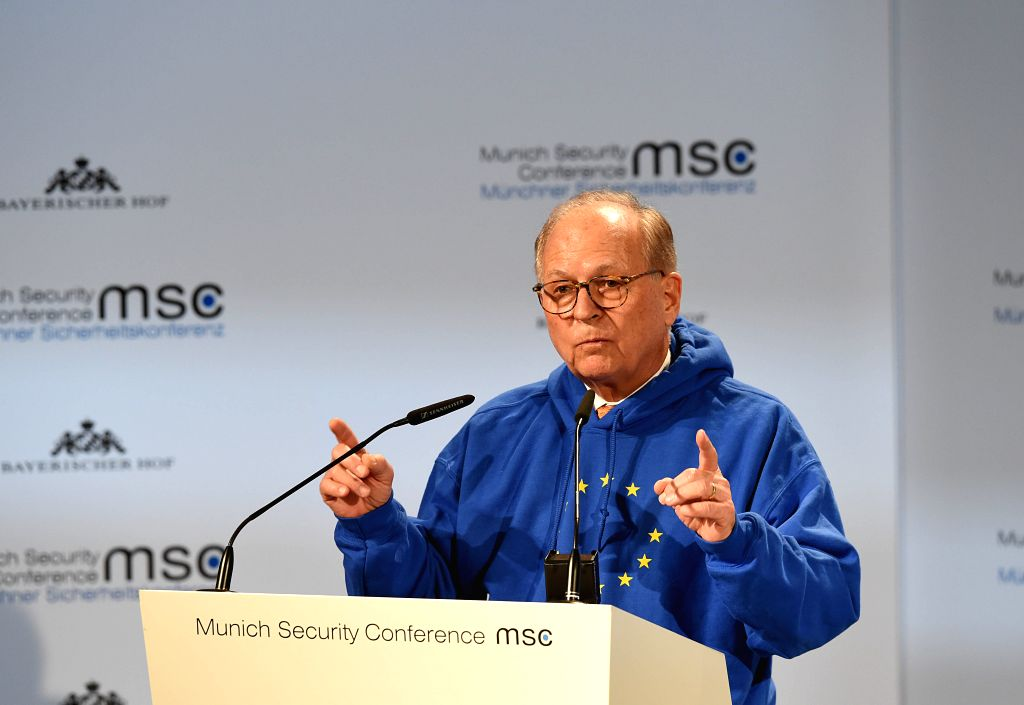 MUNICH, Feb. 15, 2019 - Munich Security Conference Chairman Wolfgang Ischinger makes his welcoming remarks at the opening ceremony of the 55th Munich Security Conference (MSC) in Munich, Germany, on ...