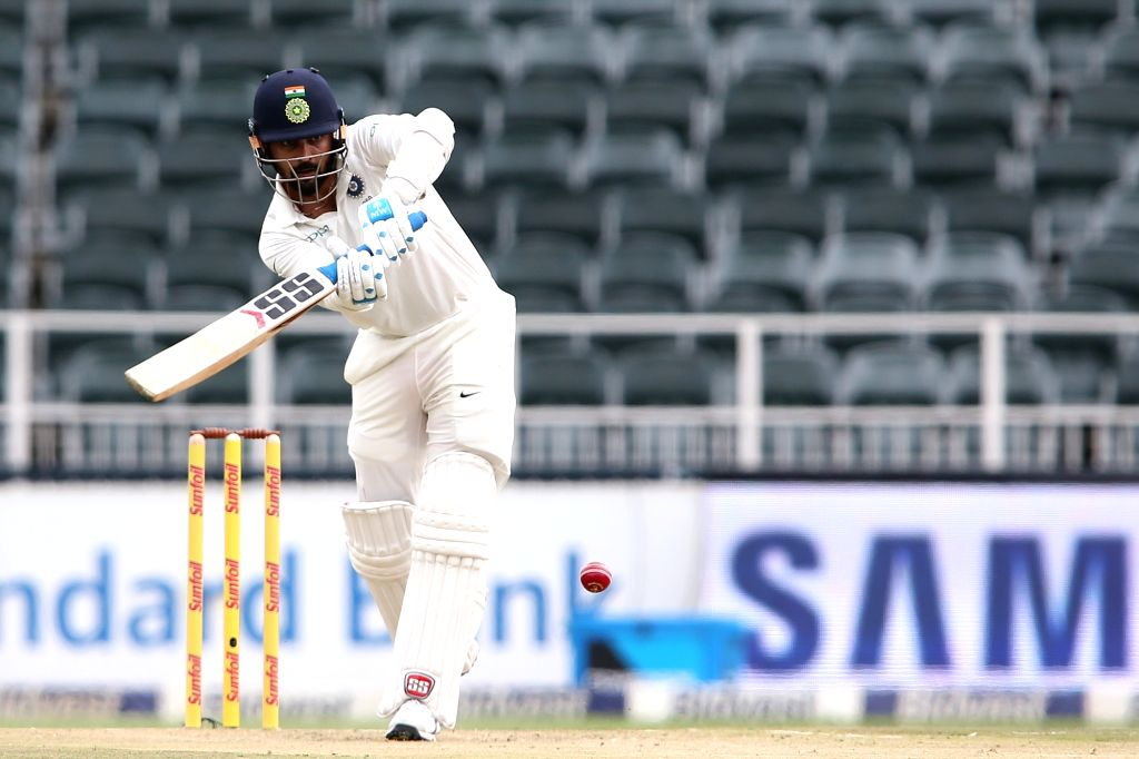 Murali Vijay of India in action during Day 1 of the third Test match between South Africa and India at the Wanderers Stadium in Johannesburg, South Africa on Jan 24, 2018.