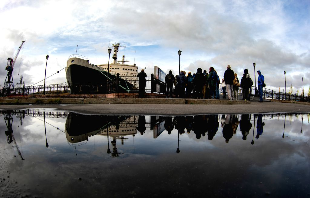 MURMANSK, Sept. 15, 2019 - People visit the nuclear-powered icebreaker Lenin in the Arctic Circle port city of Murmansk, Russia, Sept. 14, 2019.