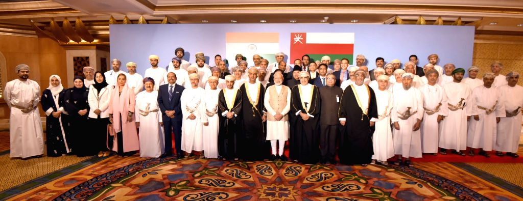 : Muscat: Prime Minister Narendra Modi at the Oman-India Business Meet in Muscat, Oman on Feb 12, 2018. (Photo: IANS/PIB).