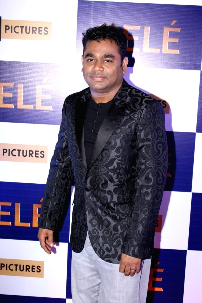 Music composer A R Rahman during the screening of Hollywood film Pele: Birth of a Legend, in Mumbai, on May 9, 2016.