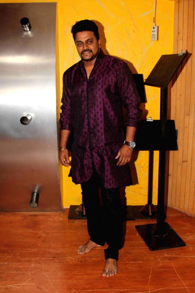 Music composer Amit Raj during the song recording of Mangalmurthi Morya, a single audio on Lord Ganesha in Mumbai on 2 Aug, 2016.