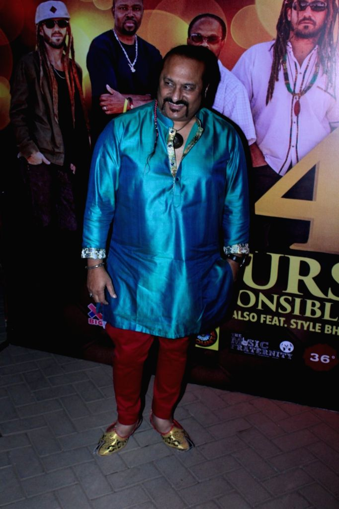 Music composer Leslie Lewis during the launch of music album titled '24 Hours - Irresponsible' by singer Shibani Kashyap in collaboration with music band Big Mountain in Mumbai on March 15, ... - Shibani Kashyap