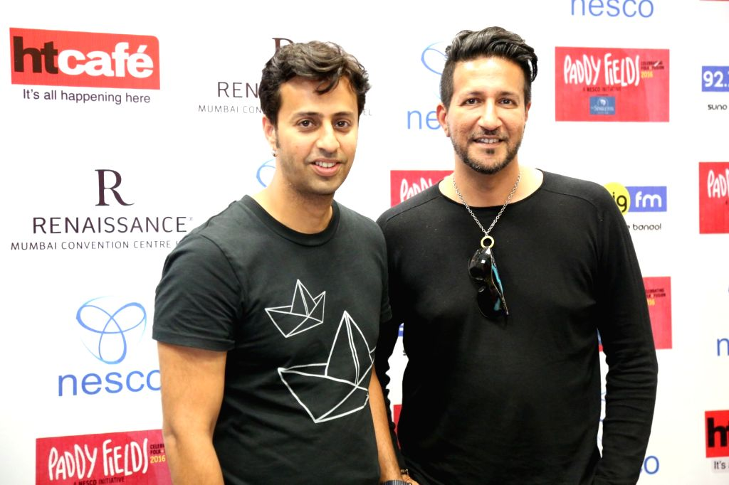 Music composer Salim Merchant and Sulaiman Merchantduring the press conference of India's first ever Folk and Fusion music Festival - Paddy Fields, in Mumbai on Oct 12, 2016.