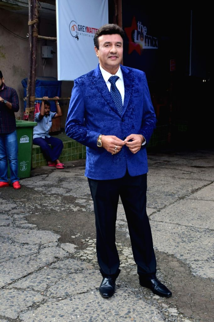 Music composer-singer Anu Malik on the sets of television show 'Comedy Dangal' in Mumbai on Sept 17, 2017. - Malik