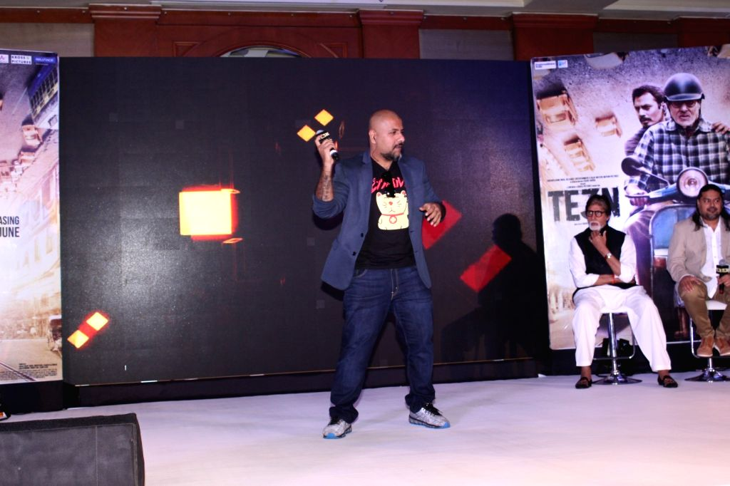Music composer Vishal Dadlani during the music launch of film Te3n in Mumbai on May 27, 2016.