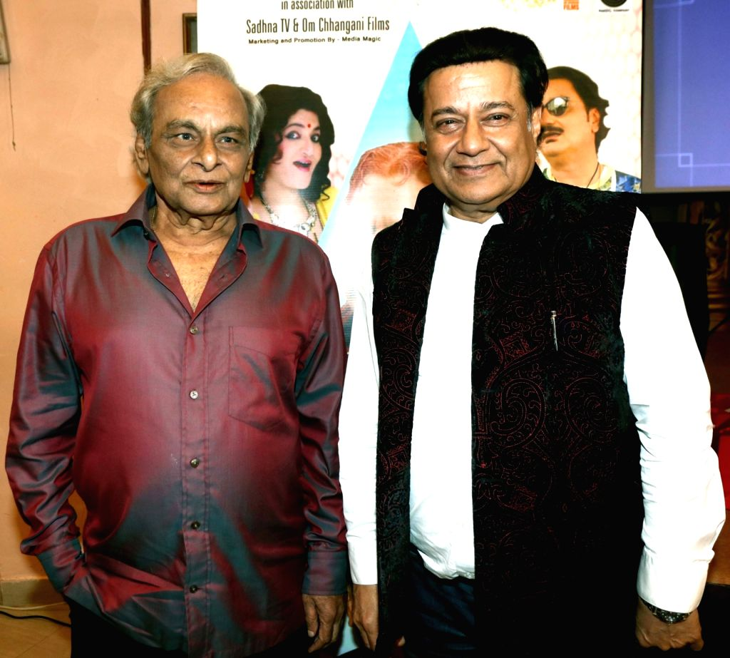 """Music director Anand and Singer Anup Jalota during the music success party of comedy film """"Mr. Kabaadi"""" in Mumbai on Sept 4, 2017. - Anand"""