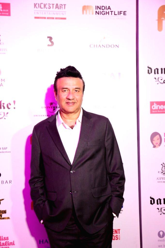 Music director Anu Malik during the India Nightlife Convention Awards in Mumbai on Sept 26, 2016. - Anu Malik
