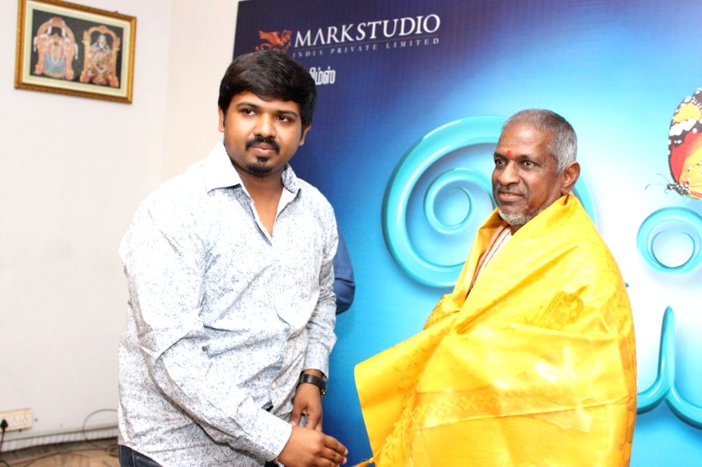Music director Ilayaraja during the audio launch of Tamil film `Oyee`.