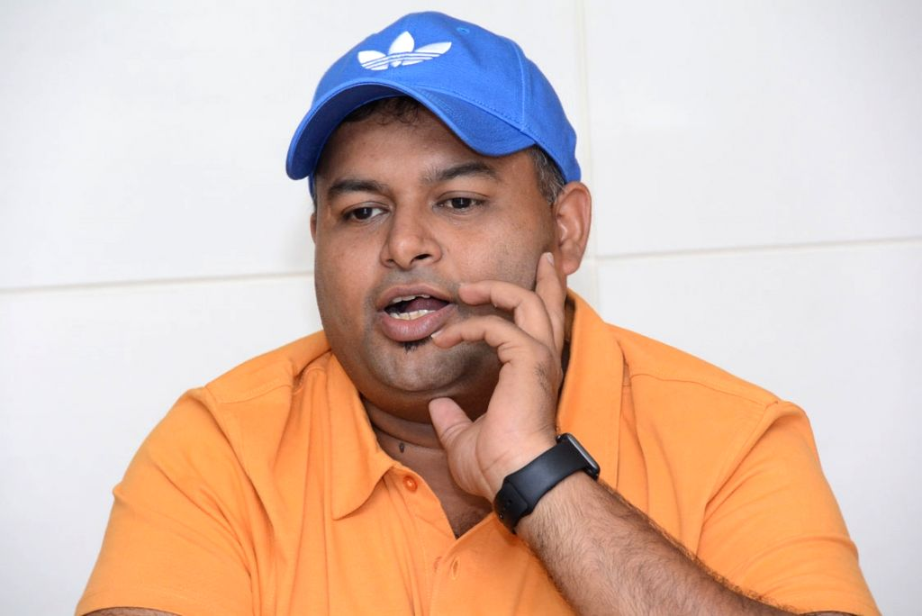 Music Director SS Thaman spoke to media in Hyderabad on April 16, 2016.