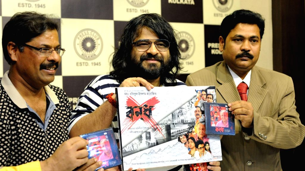 Musical composer Pritam Chakraborty at the CD releases of  film `Bandh` in Kolkata, on Jan 15, 2016. - Pritam Chakraborty