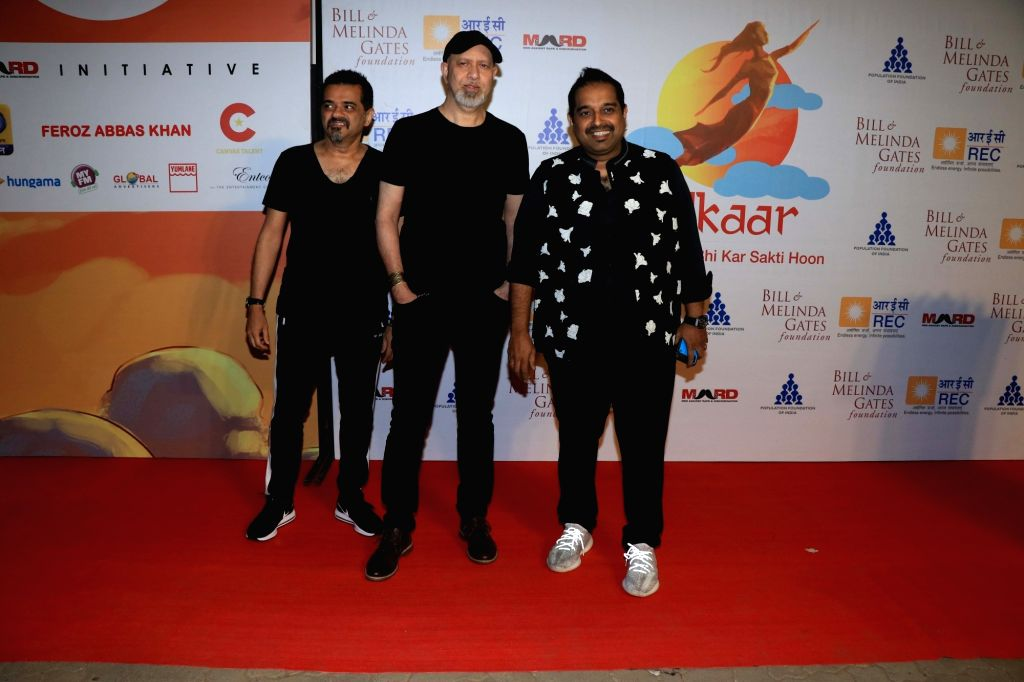 "Musical trio Shankar-Ehsaan-Loy at ""Lalkaar- Main Kuch Bhi Kar Sakti Hoon"" concert organised by Farhan Akhtar in Mumbai on Feb 14, 2019. - Farhan Akhtar"