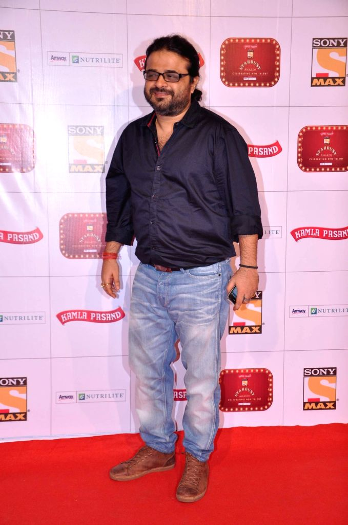 Musician Pritam at the red carpet of Stardust Awards at Jan 26 in Mumbai.