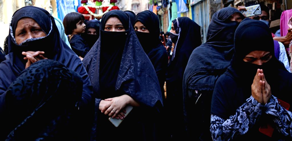 Muslim community participate in a rally during the Muharram in Kolkata on Aug 30, 2020.