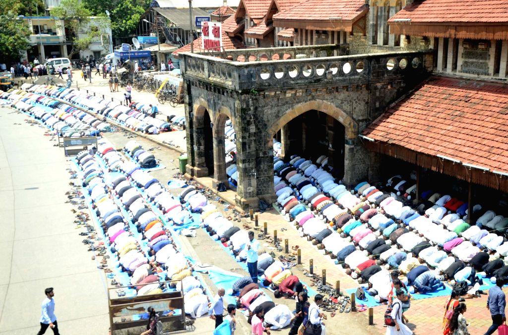 Muslims offer namaz on Ramadan in Mumbai on June 16, 2017.