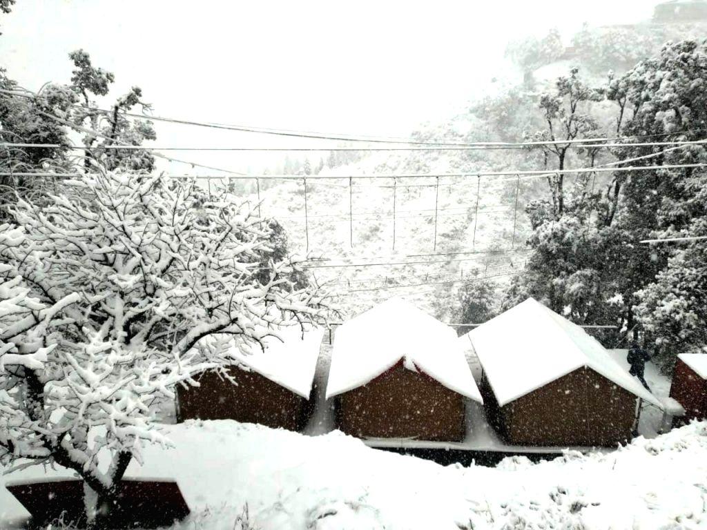 Mussoorie witnesses heavy snowfall, on Jan 22, 2019.