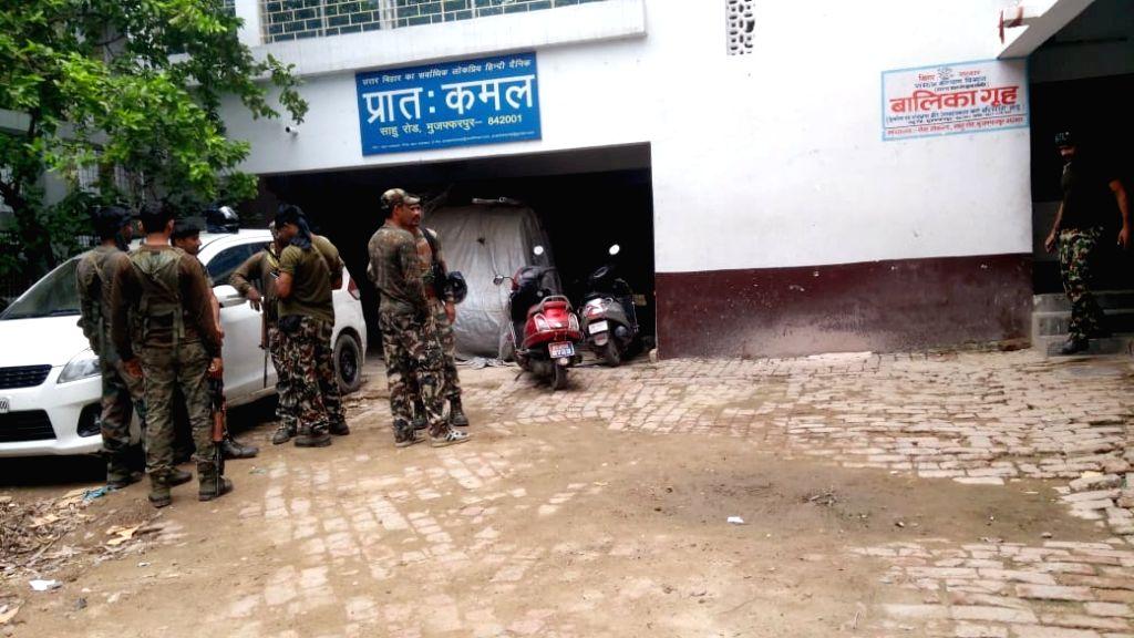 Muzaffarpur: Central Bureau of Investigation (CBI) officials conduct search operation at the shelter home in Bihar's Muzaffarpur district where 34 minor girls were raped; on Aug 11, 2018. The shelter home in Muzaffarpur was sealed by the district adm