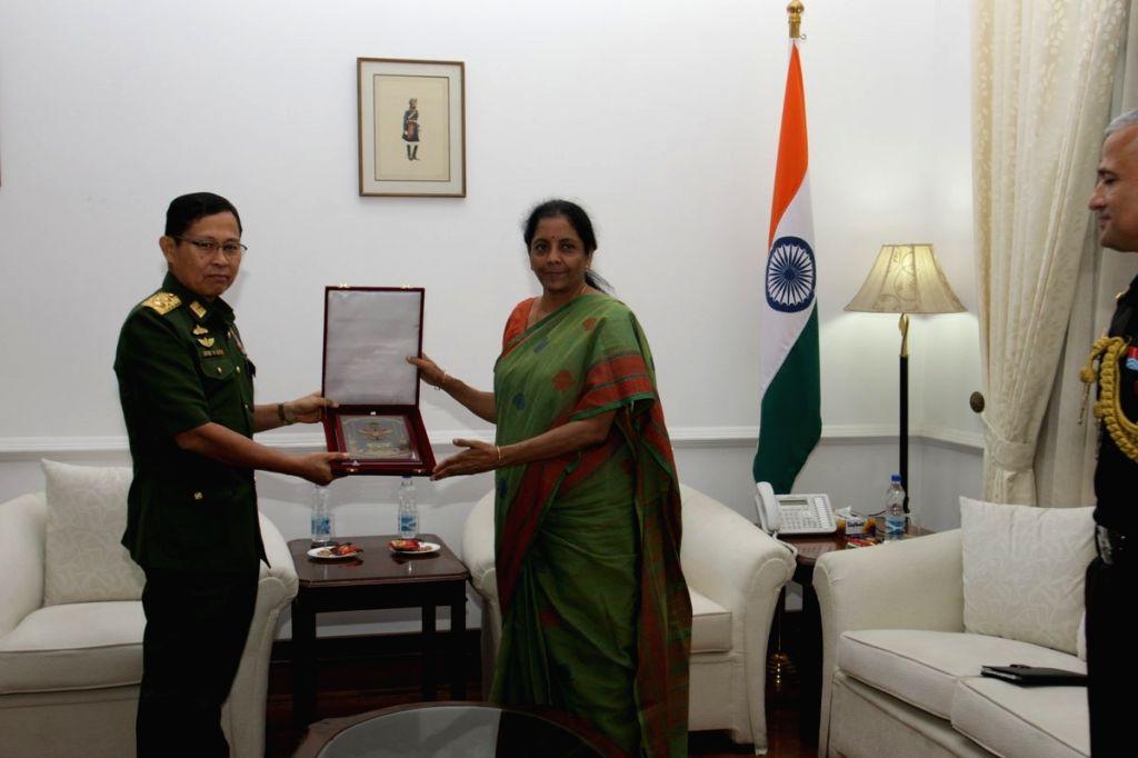 Myanmar Deputy Commander-in-Chief, Defence Services and Commander-in-Chief (Army), Vice Senior General Soe Win calls on Defence Minister Nirmala Sitharaman, in New Delhi on Sept 18, 2018. - Nirmala Sitharaman