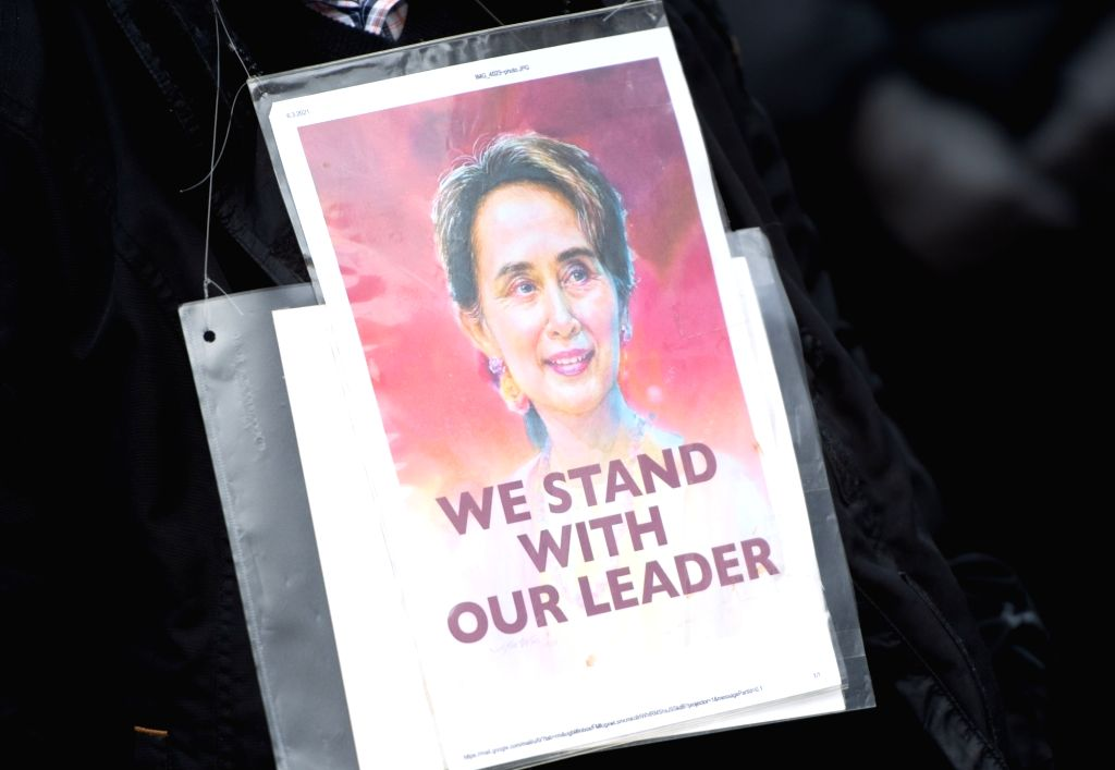 Myanmar's deposed civilian leader Aung San Suu Kyi has been charged with corruption by the junta (Photo:Christophe Gateau/dpa/IANS)