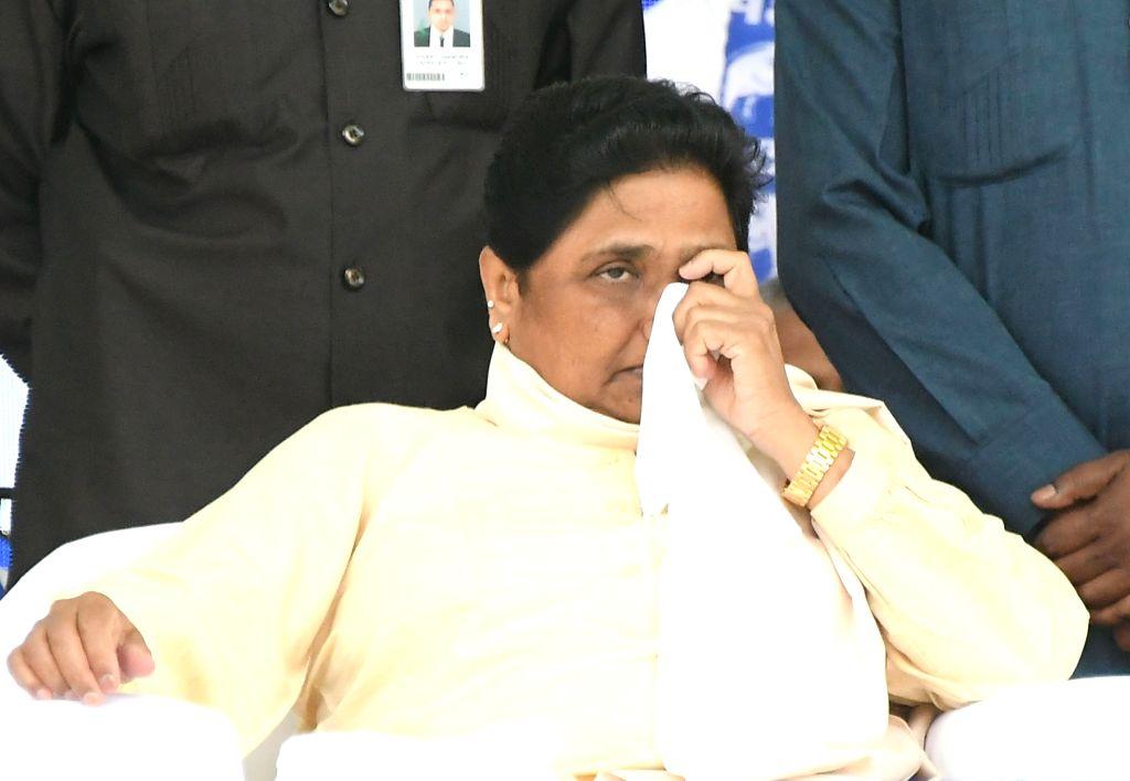 Mysuru: Bahujan Samaj Party (BSP) supremo Mayawati during an election campaign rally in Mysuru on April 10, 2019. (Photo: IANS)