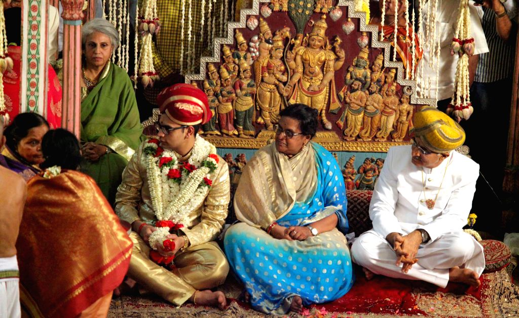 Yaduveer Gopal Raj Urs, the successor of Srikanta Datta Narasimharaja Wadiyar during his adoption ceremony to the Wadiyar dynasty at the Mysore Palace in Mysuru on Feb. 23, 2015.