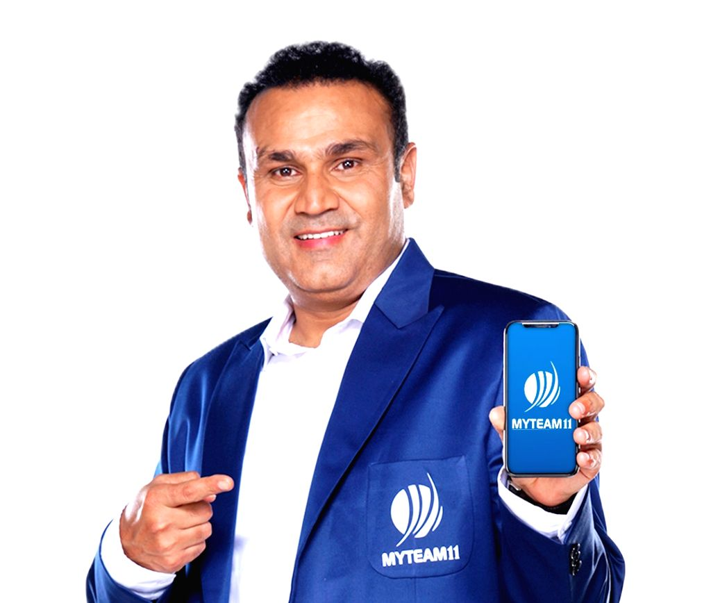 MyTeam11 Brand Ambassador and former India opener Virender Sehwag. MyTeam11, one of India's leading fantasy sports platforms, was announced as the title sponsors of the upcoming tour of the Indian cricket team to the Carribean Islands, by