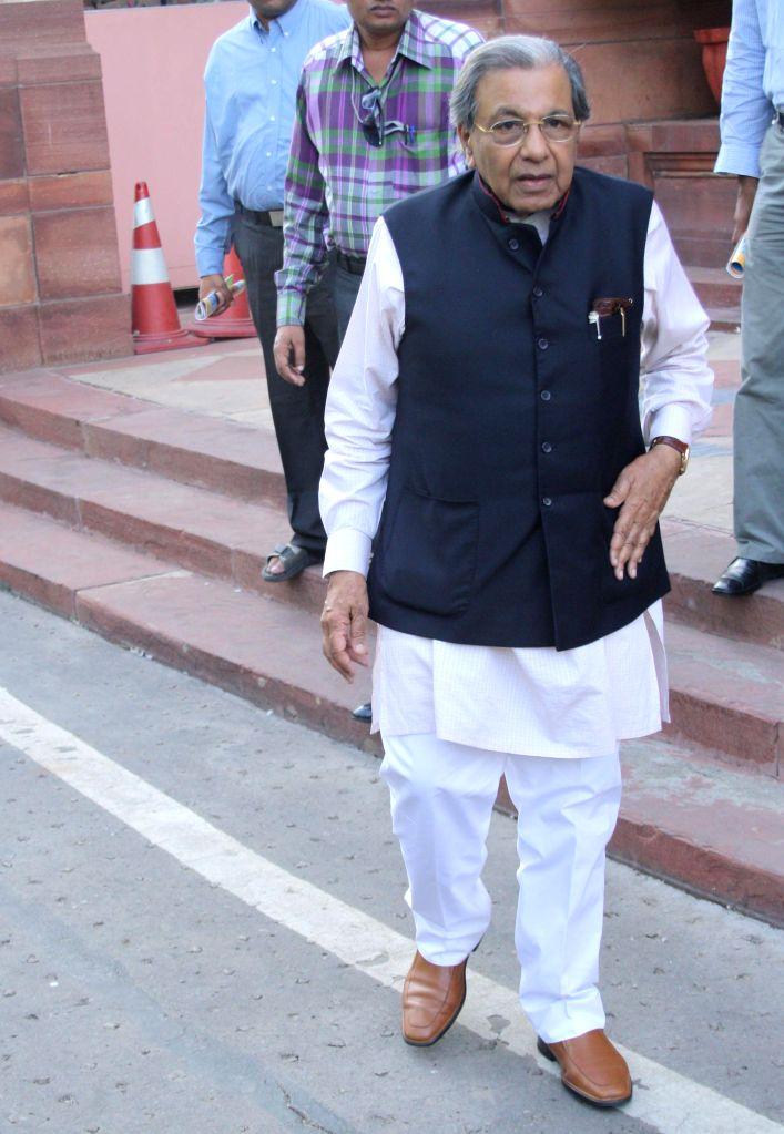 :N K Singh at Parliament House, on September 04, 2013. (Amlan Paliwal/IANS).