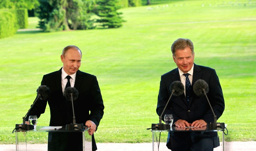 NAANTALI, July 2, 2016 - Visiting Russian President Vladimir Putin (L) and his Finnish counterpart Sauli Niinisto attend a joint press conference after holding talks in Naantali, Finland, on July 1, ...