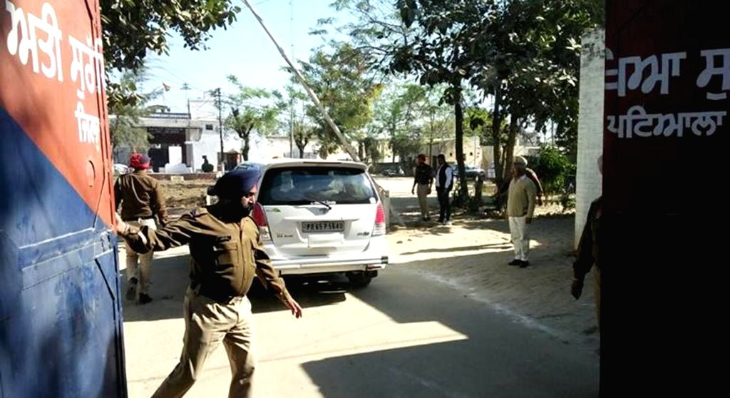 Nabha: Security beefed up at Nabha jail that was attacked by armed men who escaped with two terrorists, including Khalistan Liberation Force's Harminder Singh Mintoo and four gangsters on Nov 27, 2016.. (Photo: IANS) - Harminder Singh Mintoo