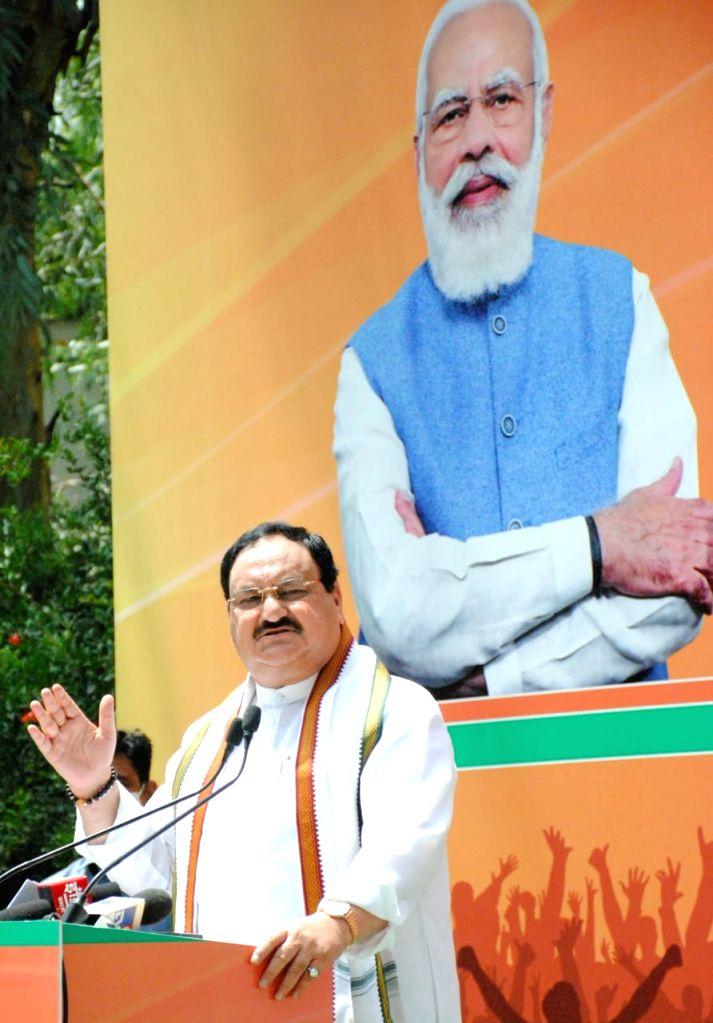 Nadda apprises Modi of upcoming Assembly polls preparations.