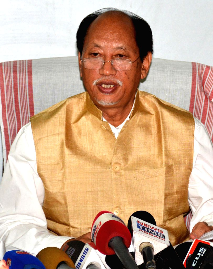 Nagaland Chief Minister and convener of North East Regional Parties Front (NERPF) Neiphiu Rio during a press conference at newly inaugurated NERPF office in Guwahati on May 13, 2014.