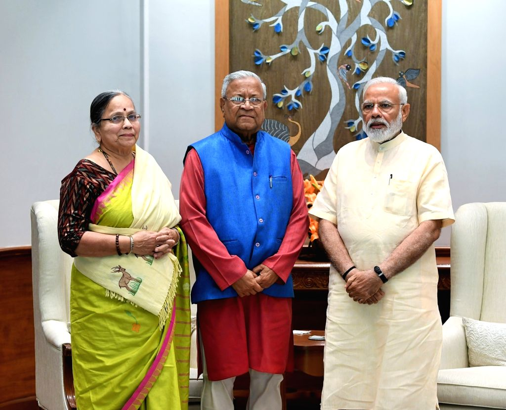 Nagaland Governor Padmanabha Acharya meets Prime Minister Narendra Modi, in New Delhi on June 1, 2019. - Narendra Modi