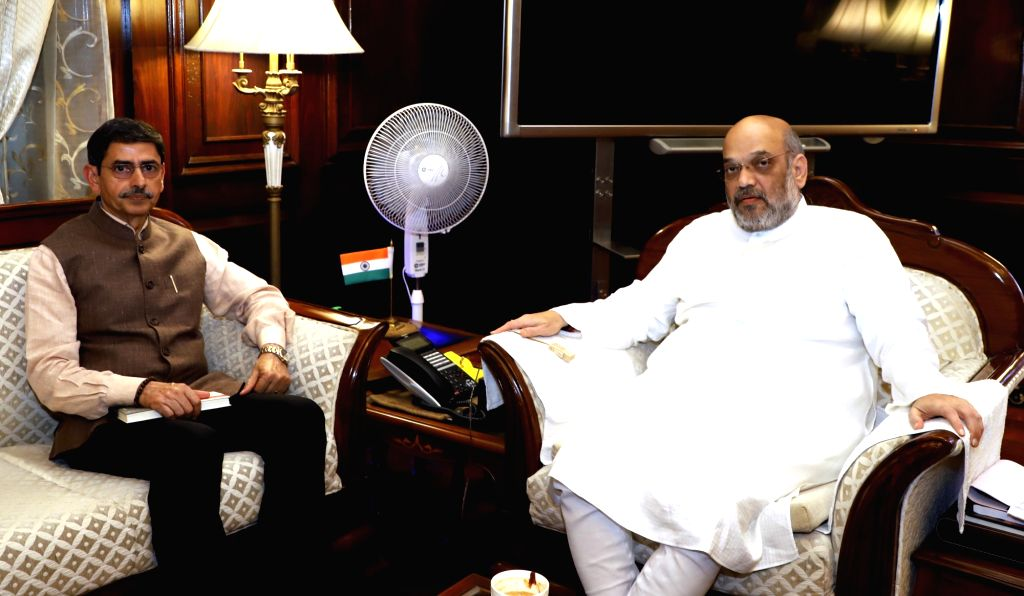 Nagaland Governor RN Ravi calls on the Union Home Minister Amit Shah, in New Delhi on Sep 27, 2019. - Amit Shah