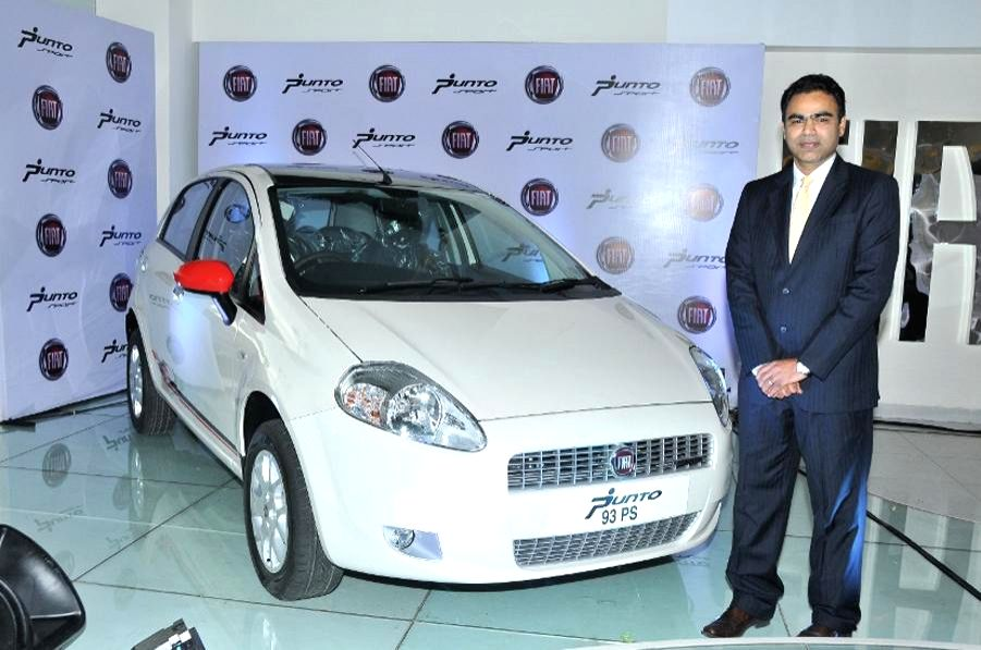 Nagesh Basavanahalli, President and Managing Director, Fiat Chrysler India Operations launches new Fiat Punto Sport 2013, in Bangalore on Wednesday 14th August 2013 (Photo::: IANS)