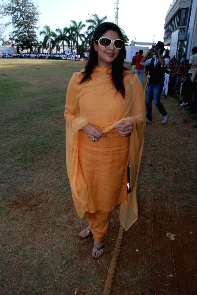 Nagma at CPAA's cricket match.