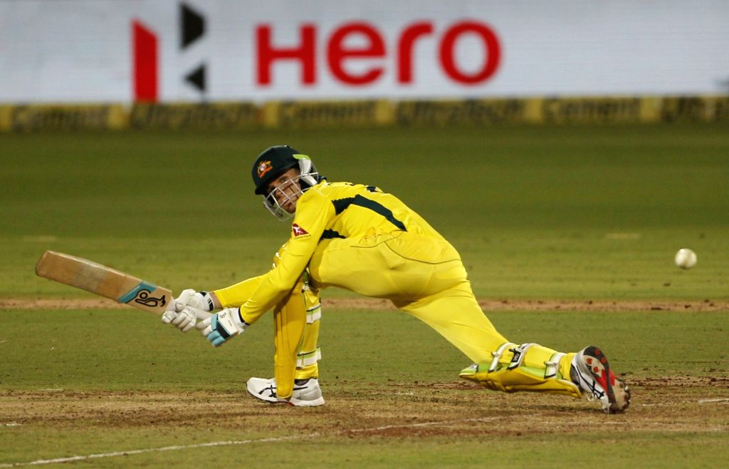 Nagpur: Australia's Peter Handscomb in action during the second ODI match between India and Australia at Vidarbha Cricket Association (VCA) Stadium, in Nagpur, on March 5, 2019. (Photo: Surjeet Yadav/IANS) - Surjeet Yadav