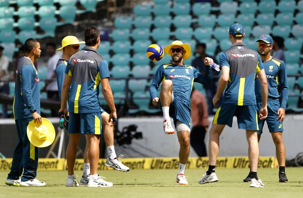 Nagpur: Australian players during a practice session ahead of the second ODI match against India, at Vidarbha Cricket Association (VCA) Stadium, in Nagpur, on March 4, 2019. (Photo: Surjeet Yadav/IANS) - Surjeet Yadav