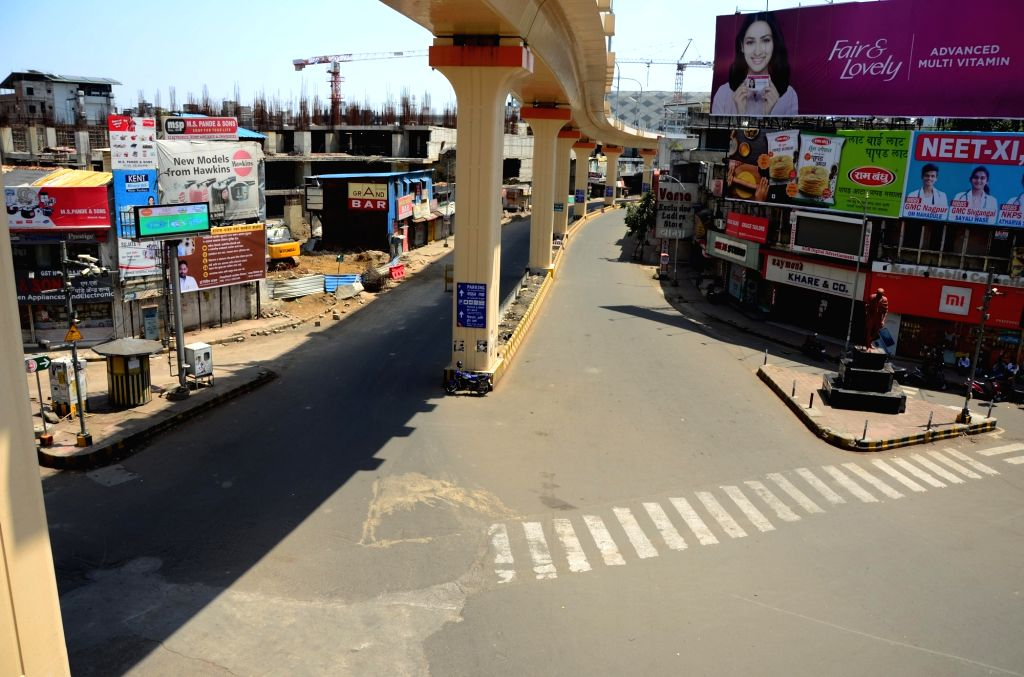 Nagpur bears a deserted look as the city comes to a halt during nationwide shutdown - Janata Curfew - called by Prime Minister Narendra Modi as a measure to contain the spread of COVID-19, on ... - Narendra Modi