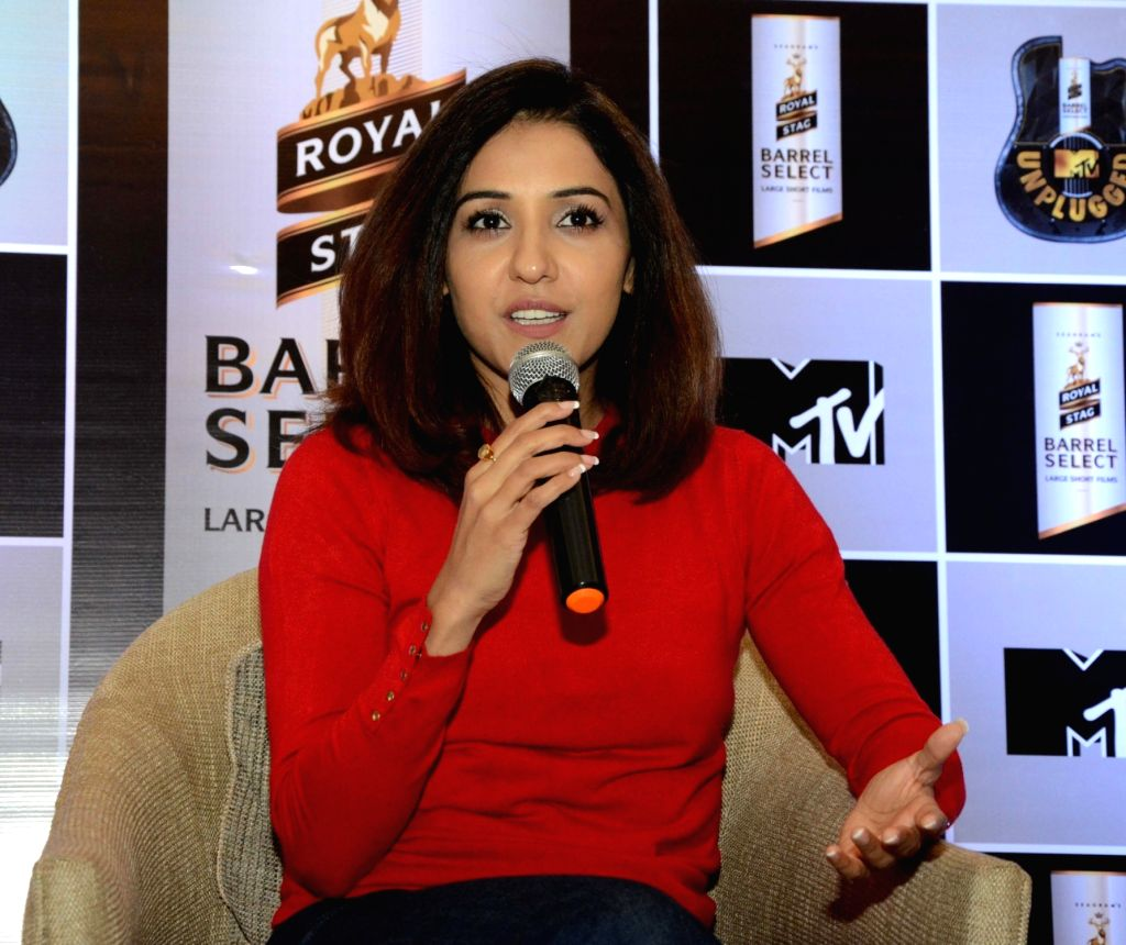 Nagpur: Singer Neeti Mohan addresses a press conference in Nagpur on Jan 19, 2019. (Photo: IANS)