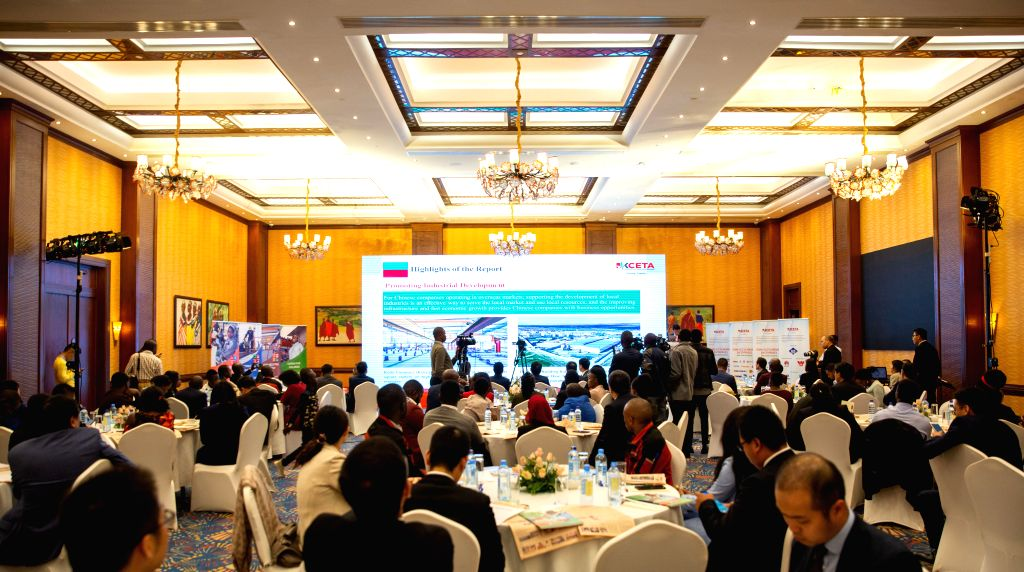 NAIROBI, Aug. 27, 2019 - The photo taken on Aug. 27, 2019 shows a ceremony to launch the 2018-2019 Social Responsibility Report in Nairobi, Kenya. Efforts by Chinese enterprises to help Kenyan ...