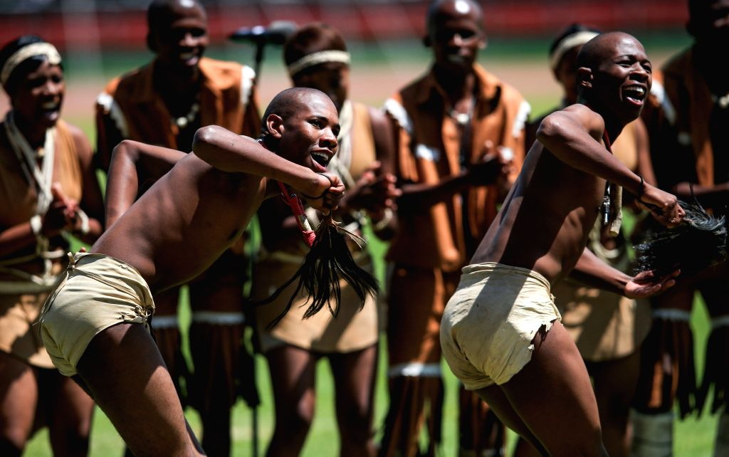 Actors perform during the 51th Jamhuri Day (Independence Day) celebration at the Nyayo National Stadium in Nairobi, capital of Kenya, Dec. 12, 2014. Kenya got its ..