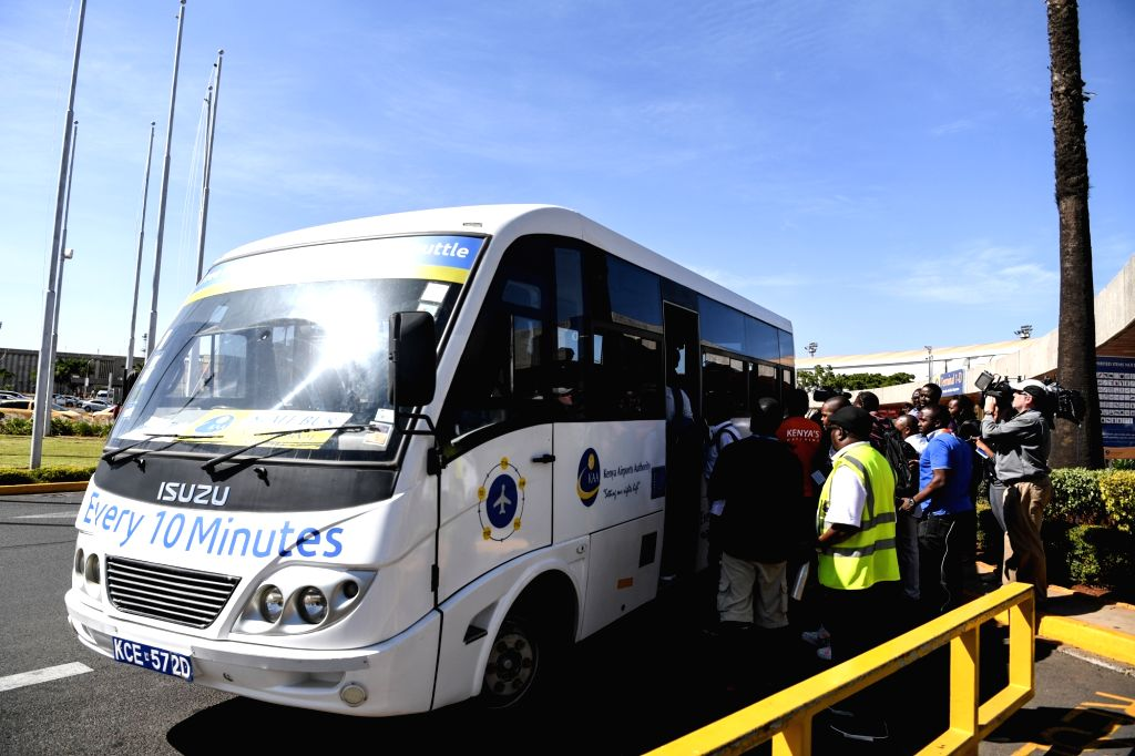 NAIROBI, March 10, 2019 - Relatives of the victims of the Ethiopian Airlines flight ET302 take a bus to hotel to wait for further information at the Jomo Kenyatta International Airport in Nairobi, ...